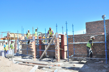 Local labour is a key feature of the project.