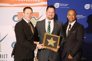 Louis Botha - Roll of Honour recipient with JP Naude and Lorenzo Arendse