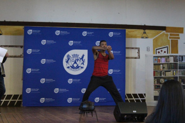 Lulama Damba started the day's events with a dance performance