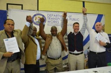 Mark Skriker: Chairperson of the PRE, Mongi Titi: Amaphela operator, Lee van den Berg: City of Cape Town Representative and Minister Robin Carlisle.