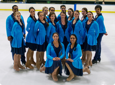 The senior synchro team that competed in last year's WP championships  (Photo by Tiana Stanton)