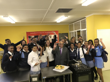 MEC Fritz joined by Grandwest CSI team and Saxonsea learners