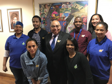 MEC Fritz with Department staff