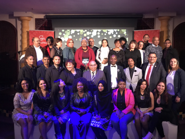 MEC Fritz with graduates and their parents