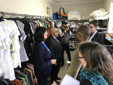 MEC tour second hand clothing shop
