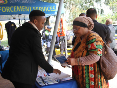 Members of the public made use of the information pamphlets dispensed at the Imbizo by the Department of Community Safety.