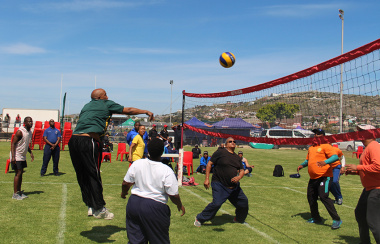 Men and women of all ages took part in the volleyball games.