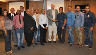 Minister Robin Carlisle, Department of Transport and Public Works staff members and the newly elected executive council.
