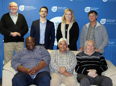 Michael Janse van Rensburg and Anita van der Merwe from DCAS with some of the outgoing committee members