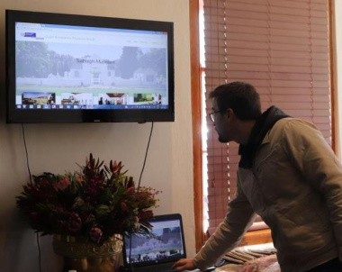Michael Janse van Rensburg launched the Cape Winelands Museum Route website in Tulbagh