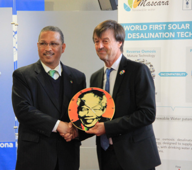 Minister for the Ecological and Inclusive Transition, M. Nicolas Hulot, and the Western Cape Government's MEC for Finance, Dr Ivan Meyer