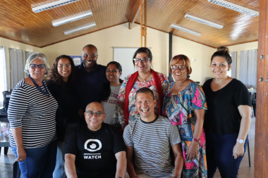 Minister Albert Fritz and Ricardo Mackenzie MPL with local councilors and facilitators