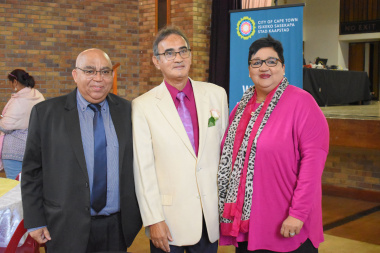 Minister Albert Fritz, Councillor Magadien Davids and Speaker Sharna Fernandez