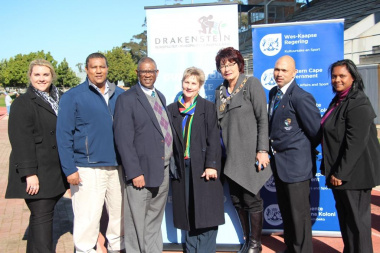 Minister Anroux Marais and Executive Mayor Adv. Gesie van Deventer with members of the Western Cape Sports Federation