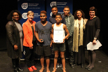Minister Anroux Marais and other officials with the winners Team Explosive
