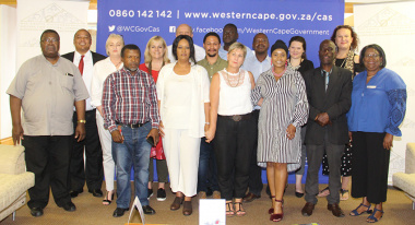 Minister Anroux Marais (centre) welcomes members of the new Western Cape Cultural Commission