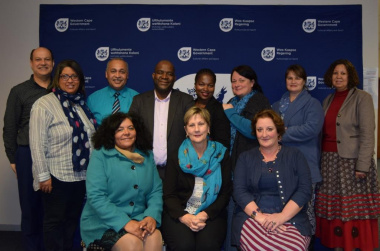 Minister Anroux Marais (front centre) with Cape Town Museum management committee members and staff of DCAS who support Museum Services.