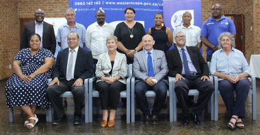 Minister Anroux Marais, government officials and local stakeholders attended the opening of the Overberg District Academy at the refurbished Glaskasteel Sports Complex