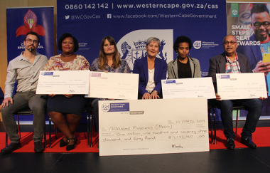 Minister Anroux Marais issued the cheques to museum managers at a funding ceremony on Wednesday night.