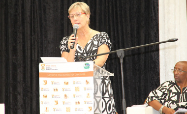 Minister Anroux Marais underlined the importance of the use of mother tongue at Friday's International Mother Language Day event in Khayelitsha.