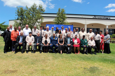 Minister Anroux Marais with other VIPs and all the honoured Legends