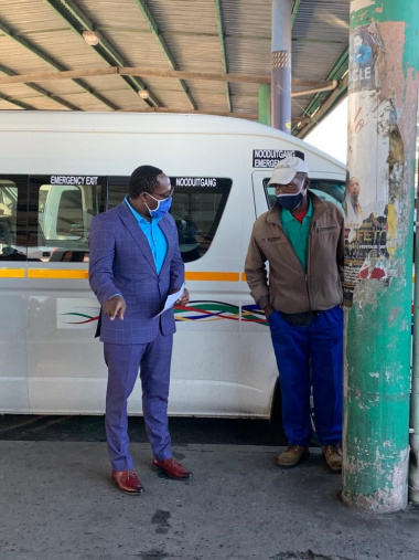 Minister at taxi rank