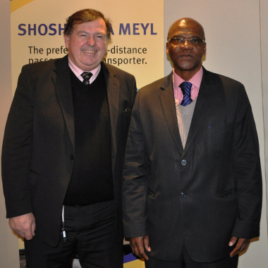 Minister Donald Grant and Mthuthuzeli Swartz of PRASA made the announcement of the new train service.