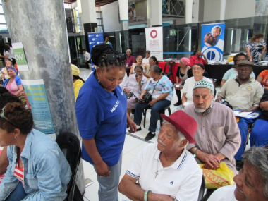 Minister engaging with senior citizens