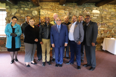 Minister Fritz with District Municipality Representatives