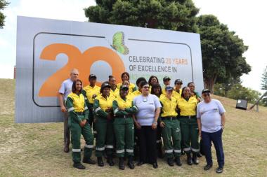 Minister Fritz, Minister Fernadez and NCC all-women firefighters