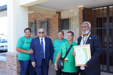 Minister Fritz with community work programme