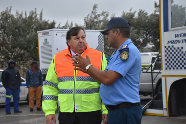 Minister Grant and Mr Farrel Payne, the Director of Traffic Enforcement