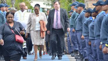 Minister Grant and Minister Peters arriving at the second National Road Safety Summit.