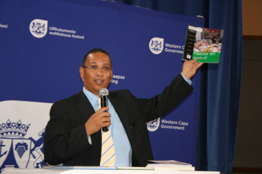 Minister Ivan Meyer speaks about the importance of books at the Library Week Launch 2013.