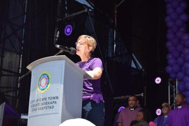 Minister Marais addressed the crowd