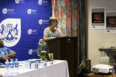 Minister Marais addressing the attendees of the Oral History Initiative