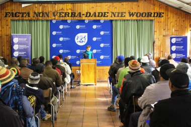 Minister Marais addressing the participants of the Initiation Forums Consultative Meeting