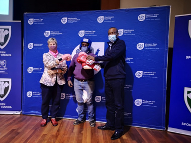Minister Marais also handed over equipment to some of the federations.