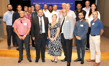Minister Marais and Brent Walters with delegates from the summit