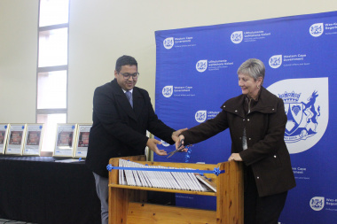 Minister Marais and Dr Badroodien launch the Oral History Initiative in Mamre in the West Coast