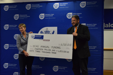 Minister Marais and HOD Walters hand over R14 053 million to Arts and Culture organisations