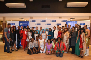Minister Marais and HOD Walters with some of the performers