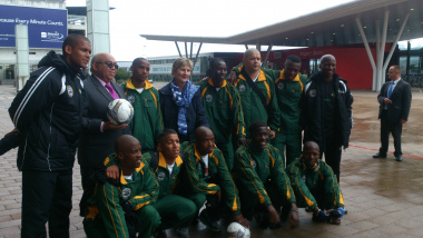 Minister Marais and Minister Fritz with the team