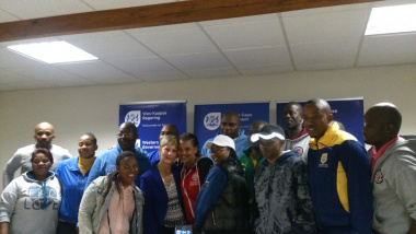 Minister Marais and some of the team members