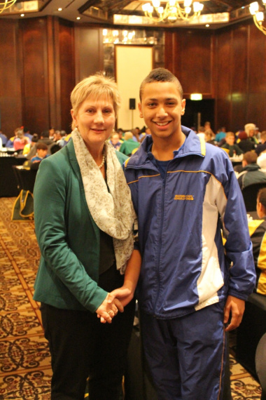 Minister Marais at the SA Chess Open with Keegan Agulhas, 2015 School Sportsman of the Year