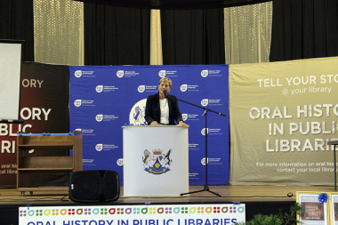 Minister Marais encouraged the community to participate in the Oral History Initiative