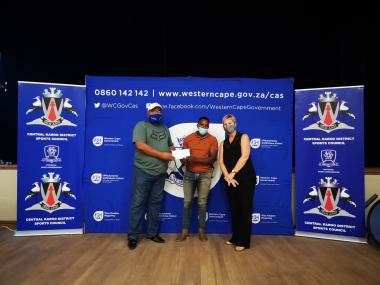 Minister Anroux Marais handed over funding to federation representatives.