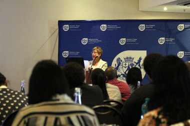 Minister Marais highlighted the benefits of libraries within communities during her keynote address