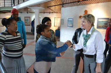 Minister Marais meets some of the EPWP interns at the Diaz Museum in Mossel Bay
