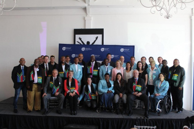 Minister Marais, some of the Paralympians who will be competing in Rio, along with medical staff and DCAS officials